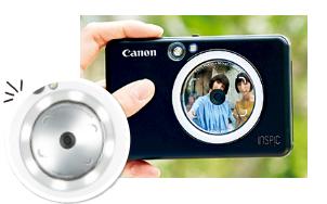 内蔵カメラで撮影→すぐ印刷の1万円台インスタントカメラ「iNSPiC ZV-123/CV-123」キャノン